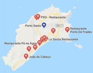 Karte Porto Santo